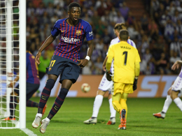 Barcelona im Glück in Valladolid: Matchwinner Dembelé