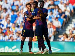 Slapstick im Anoeta: Schwaches Barça wird zweimal eingeladen