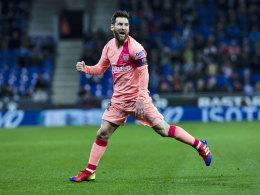 Messi links oben, Messi rechts oben: Barça Derbysieger