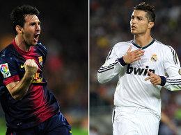 Die Protagonisten des Clasico: Lionel Messi und Cristiano Ronaldo trafen jeweils doppelt.