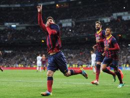 Avancierte zum Matchwinner: Lionel Messi traf im Bernabeu gleich drei Mal, darunter waren zwei Elfmeter.