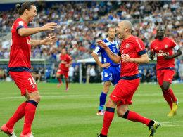 Zlatan Ibrahimovic und Jeremy Menez