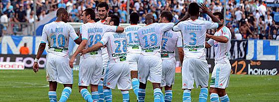 Olympique Marseille jubelt