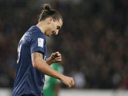 Zlatan Ibrahimovic nach der Roten Karte