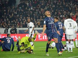 PSG-Verteidiger Alex verzweifelt gegen Stade Rennes
