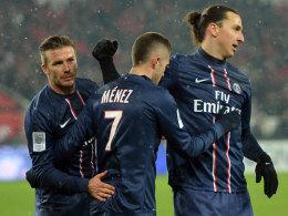 David Beckham, Jeremy Menez, Zlatan Ibrahimovic
