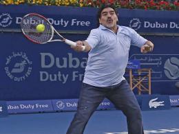 Muss sich die Zeit derzeit in anderen Disziplinen vertreiben: Diego Maradona.