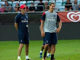 Laurent Blanc und Zlatan Ibrahimovic