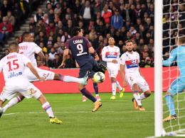 PSG hat das Glück gegen Lyon auf seiner Seite