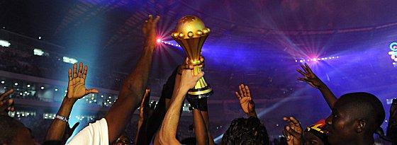 Das Objekt der Begierde: der Pokal für den Afrika-Meister.