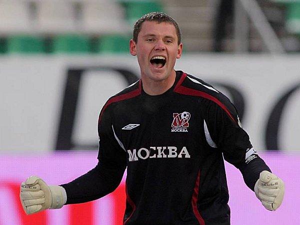 Moskaus Keeper Juri Zevnov
