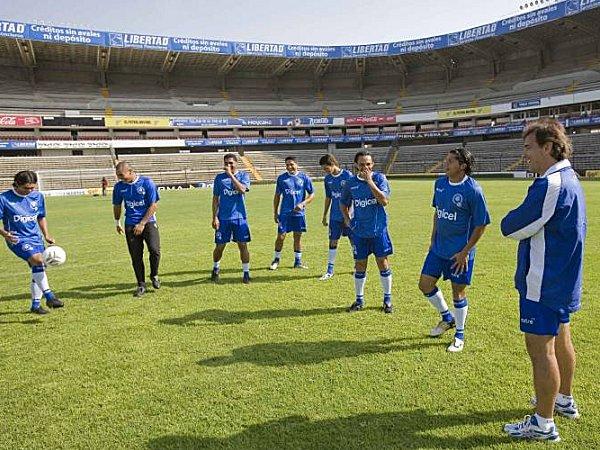 Nationalmannschaft El Salvadors beim Training