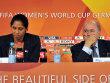 Steffi Jones und Sepp Blatter