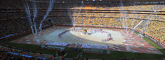 Johannesburg: Eröffnungsfeier der Fussball Weltmeisterschaft 2010 in Südafrika.