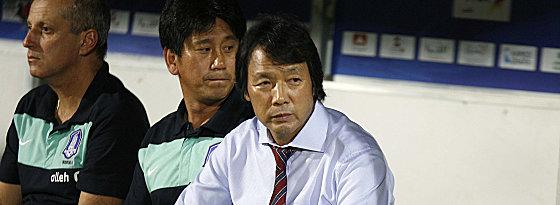 Die sorgenvolle Miene war berechtigt: Kwang-Rae Cho ist nicht mehr länger Nationaltrainer Südkoreas.