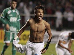 Matchwinner im Pokalfinale gegen Guarani: Santos-Star Neymar.