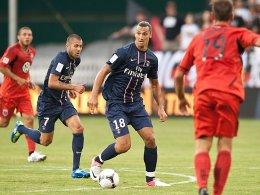 Daran muss man sich auch erst gewöhnen: Zlatan Ibrahimovic im PSG-Dress, hier erstmals beim Spiel in Washington.