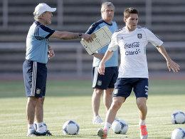 Alejandro Sabella und Lionel Messi
