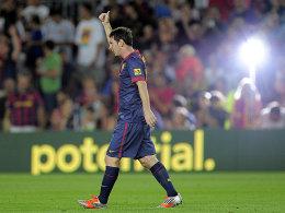 Zurück im Rampenlicht: Lionel Messi ließ es gegen Real Sociedad zweimal klingeln.