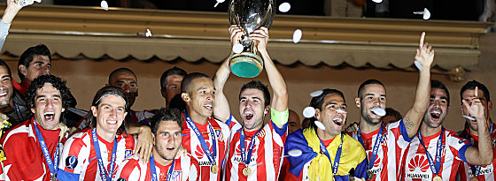Party in Monaco: Atletico feiert den verdienten Sieg im Supercup.
