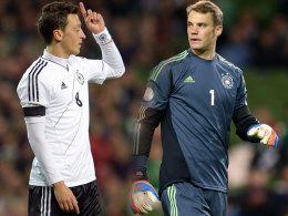 Mesut Özil und Manuel Neuer