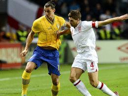 Zlatan Ibrahimovic gegen Steven Gerrard