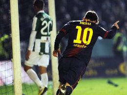Nicht zu stoppen: Gegen Cordoba machte Messi die Tore 87 und 88 im Jahr 2012.