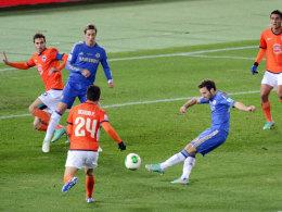 Juan Mata trifft zum 1:0