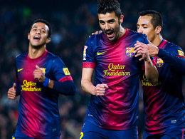 Treffsicher: Barcelonas David Villa erzielte einen Doppelpack.