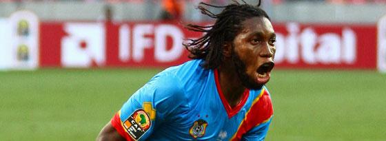 Kongos Dieudonne Mbokani erzielte den überraschenden 2:2-Ausgleich gegen Ghana.