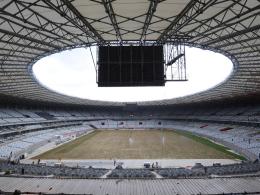 Noch nicht ganz WM-tauglich: Bei der Eröffnung des Estadio Mineirao gab es eine Pannenserie.