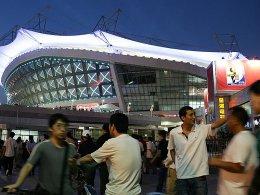 Es liegt ein dunkler Schatten über Chinas Fußball: das Stadion von Shanghai Shenhua.