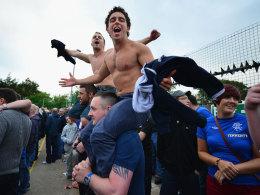 Fans der Glasgow Rangers
