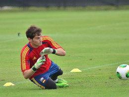 Zurück zwischen den Pfosten: Iker Casillas hat das Vertrauen seines Nationaltrainers.