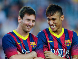 Lionel Messi und Neymar (re.)