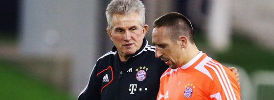 Seite an Seite zum Triple-Gewinn: Jupp Heynckes und Frack Ribery.