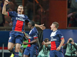 Sein Tor reichte nicht zu drei Punkten: PSG-Stürmer Ibrahimovic.