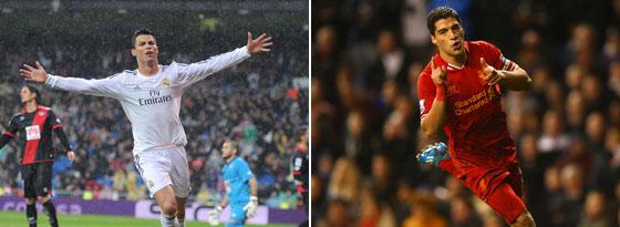 Cristiano Ronaldo und Luis Suarez