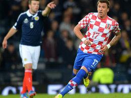 Schieflage? Von wegen! Mario Mandzukic wurde in Kroatien ausgezeichnet.