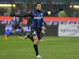 Rolle getauscht: Der langjährige Inter-Kapitän Javier Zanetti wird neuer Vize-Präsident.