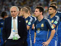 Alejandro Sabella, Lionel Messi (re.)