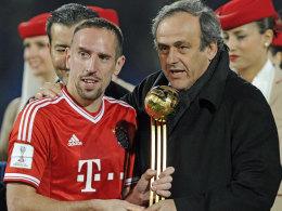 Franck Ribery und Michel Platini
