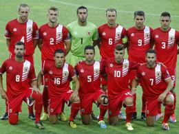 Dürfen unter der Fahne der UEFA auflaufen, nicht jedoch der FIFA: Die Nationalmannschaft Gibraltars.