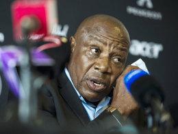 Äußerte sich unter Tränen zum Tod von Senzo Meyiwa: Südafrikas Nationaltrainer Ephraim Mashaba.