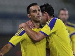 Stand beim Derby in Tel Aviv nicht nur sportlich im Fokus: Maccabis Eran Zahavi.