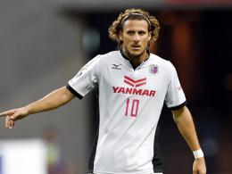Stehen kurz vor dem Abstieg in die zweite japanische Liga: Diego Forlan und sein Klub Cerezo Osaka.