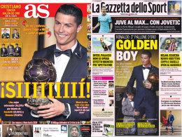 """Die Titelseiten von """"AS"""" und """"Gazzetta dello Sport"""" am Dienstag"""