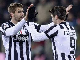 Matchwinner für Juventus: Alvaro Morata (re.).