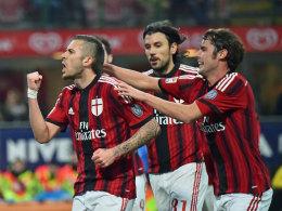 Mann des Tages: Wieder einmal entscheidet Jeremy Menez (li.) die Partie für den AC Mailand.