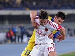 Musste zur Halbzeit verletzt passen: Milan-Kapitän Riccardo Montolivo.
